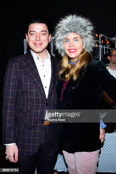 Malan Breton and Debbie Dickinson attend Tracy Stern hosts holiday party at private townhouse in Hell's Kitchen at Private Residence on December 14...