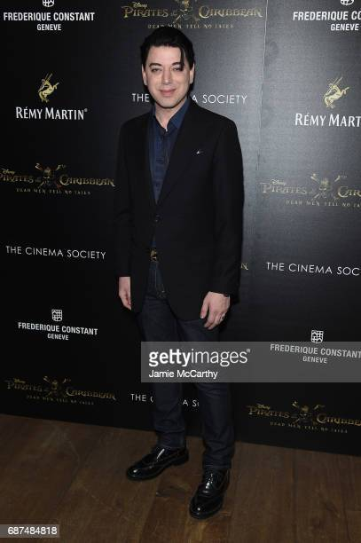 Malan Breton attends a screening of 'Pirates Of The Caribbean Dead Men Tell No Tales' hosted by The Cinema Society at Crosby Street Hotel on May 23...