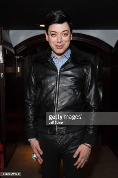 Malan Breton attends a VIP event in celebration of Elijah Rowen's birthday at ICEBAR on August 17 2019 in London England