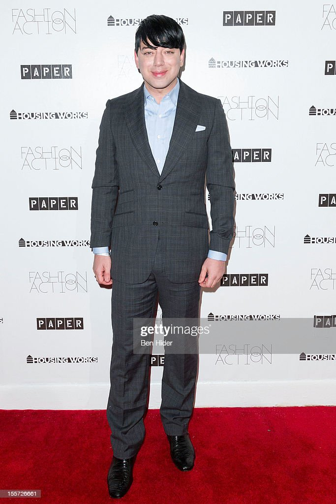 Malan Breton attends Fashion for Action 2012 at the Altman Building on November 7, 2012 in New York City.