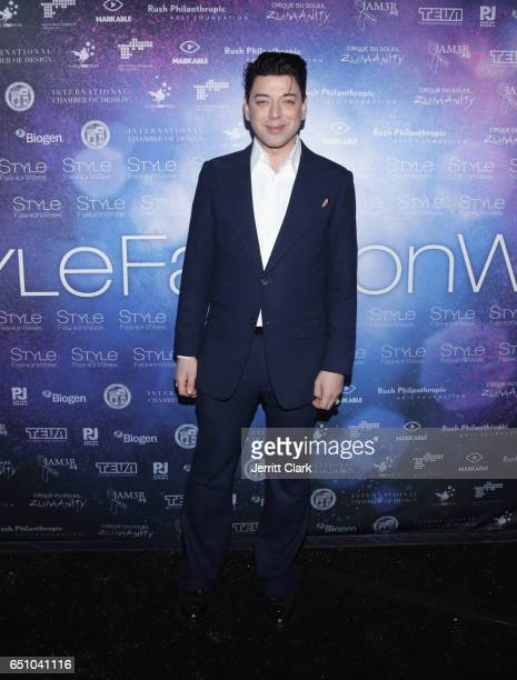 Malan Breton attends his 3D Cinematic Runway Show at Style Fashion Week Los Angeles at Pacific Design Center on March 9 2017 in West Hollywood...