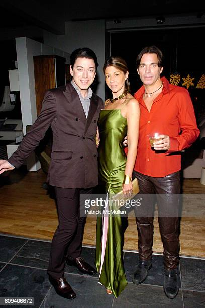Malan Breton Sally Randall Brunger and Patrick Askin attend KolDesign/BoConcept 5th Annual Holiday Party at BoConcept on December 11 2007 in New York...