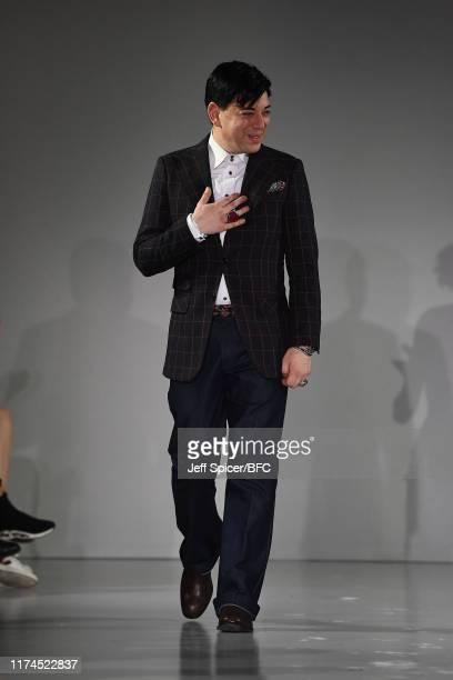 Malan Breton walks the runway at the Malan Breton SS 2020 show during London Fashion Week September 2019 at the on September 13 2019 in London England