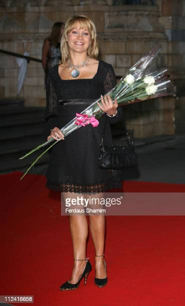 Malandra Burrows during The Bedrock Ball Red Carpet Arrivals at Natural History Museum in London Great Britain