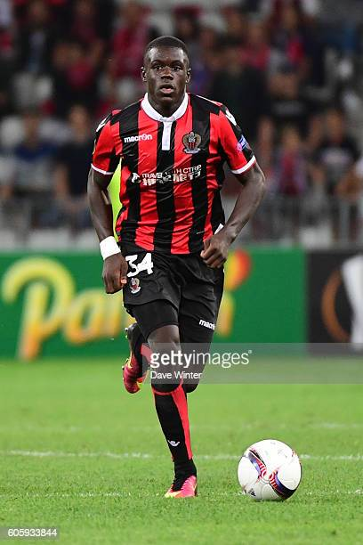 Malang Sarr of Nice during the Europa League match between Nice and Schalke 04 at Allianz Riviera Stadium on September 15 2016 in Nice France