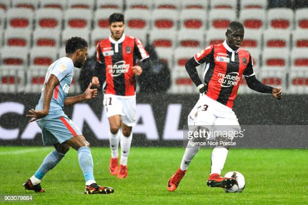 Malang Sarr of Nice during the League Cup match between Nice and Monaco at Allianz Riviera Stadium on January 9 2018 in Nice France