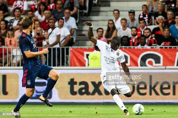 Malang Sarr of Nice during the UEFA Champions League Qualifying match between Nice and Ajax Amsterdam at Allianz Riviera Stadium on July 26 2017 in...