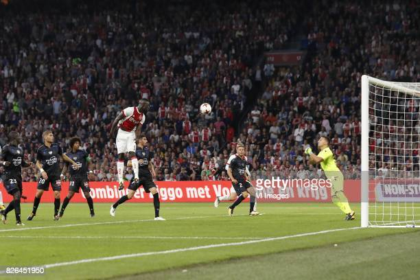 Malang Sarr of OCG Nice, Maxime Le Marchand of OCG Nice, Dante of OCG Nice, Davinson Sanchez of Ajax, Pierre Lees-Melou of OCG Nice, Arnaud Souquet...