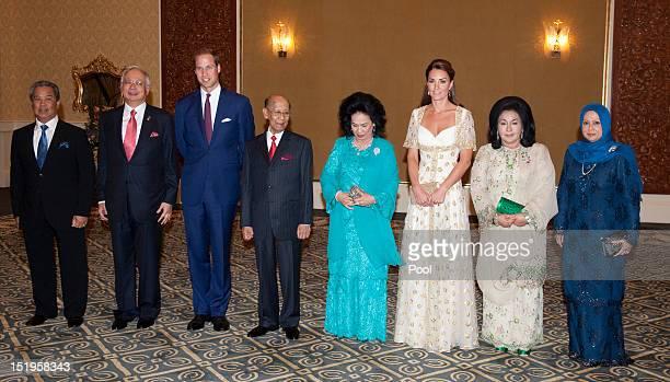 Malasyian Prime Minister Najib Razak, Prince William, Duke of Cambridge, Sultan Abdul Halim Mu'adzam Shah of Kedah the Yang di-Pertuan Agong of...