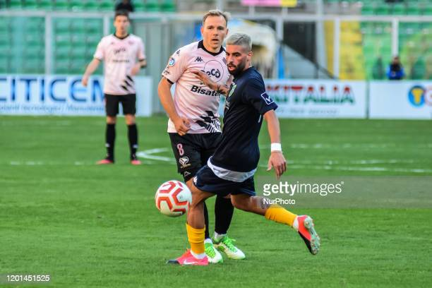 Malaury Martin during the serie D match between SSD Palermo and ASD Biancavilla at Stadio Renzo Barbera on February 16, 2020 in Palermo, Italy.