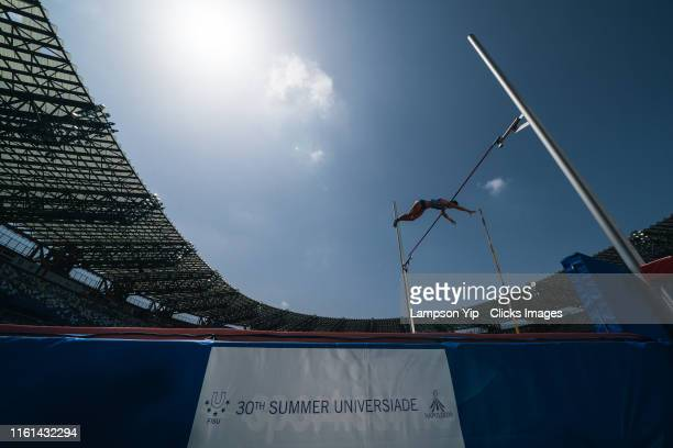 Malavisi Sonia of Italy competes in Women's Pole Vault Qualifications during Athletics Day two 2019 Summer Universiade on July 09 2019 in San Paolo...