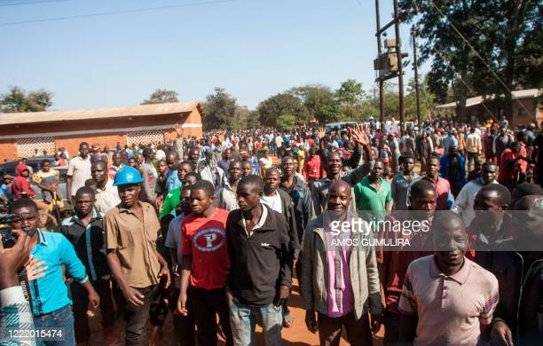 Malawi Congress Party president Lazarus Chakweras supporters see off their presidential candidate soon after he casted his ballot during the...
