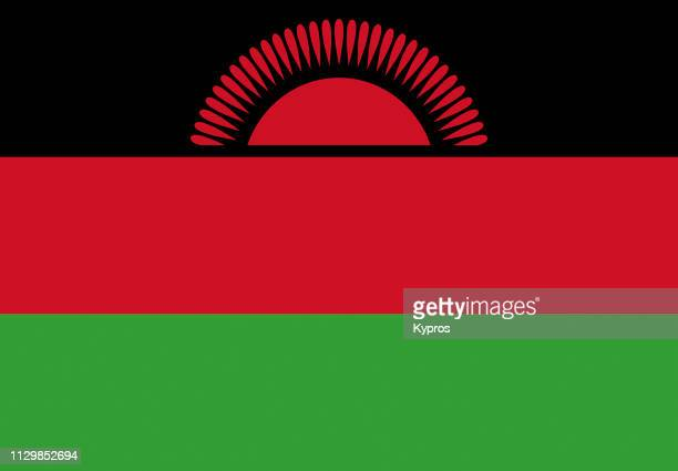 malawi flag - malawi stock pictures, royalty-free photos & images