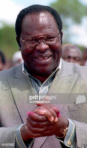 Malawi Presidentelect Bakili Muluzi of Malawi's United Democratic Front Party during a tour of Blantyre 18 May 1995 Muluzi is set to become Malawi's...