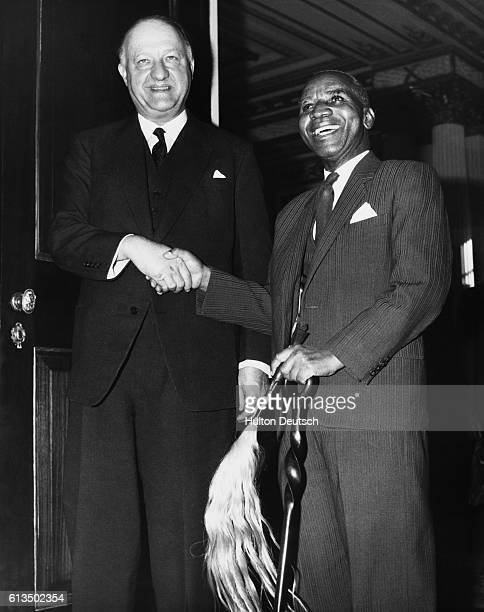 Malawian President Kamuzu Hastings Banda and British First Secretary of State RA Butler during a London conference in 1962