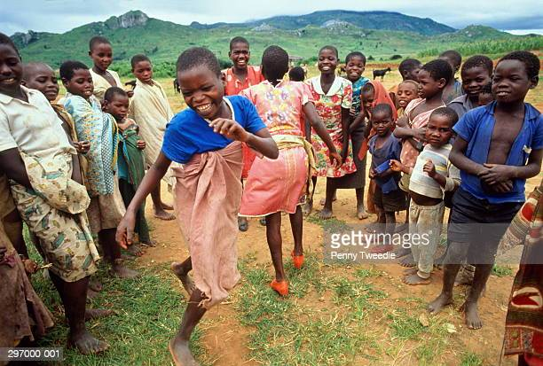 Malawi,Mapira refugee camp,children dancing
