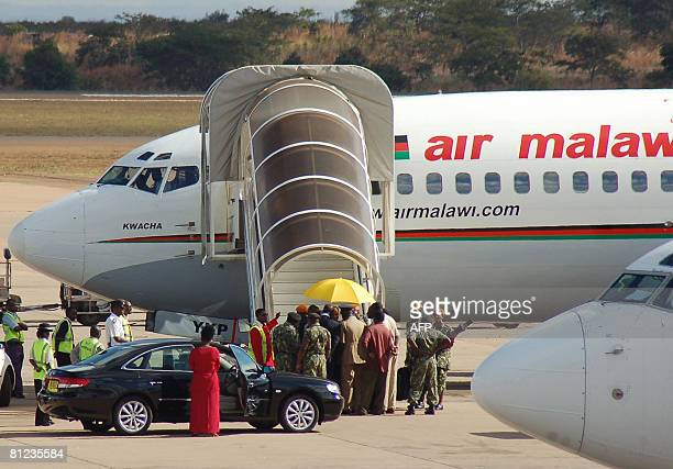Malawi's former president Bakili Muluzi is arrested at Kamuzu International Airport in the Capital Lilongwe on his return from the United Kingdom on...