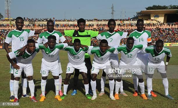 Malawi's National football team players Robert Ngambi Chiukepo Msowoya goalkeeper Brightone Munthali Harry Nyirenda defender and captain Limbikani...