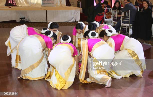 Malayalam dancers perform a traditional dance from Kerala during the 6th Annual Celebrating Womanhood Gala held in Mississauga, Ontario, Canada, on...