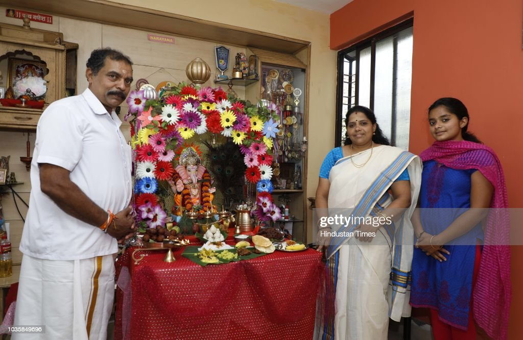 Malayalee Family Celebrate Ganesh Mahotsav In Pune