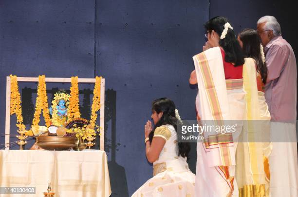 Malayalis offer prayers during the Vishu Festival in Brampton Ontario Canada Vishu is a major annual event for Malayali people in and outside Kerala...