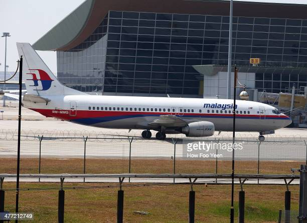 Malaysia Airline passenger jets are shown parked on the tarmac at the Kuala Lumpur International Airport on March 8, 2014 in Kuala Lumpur, Malaysia....