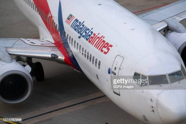 Malaysia Airlines Berhad airplane seen at Kuala Lumpur International Airport also known as KLIA KLIA is the 23rd largest and busiest airport in the...