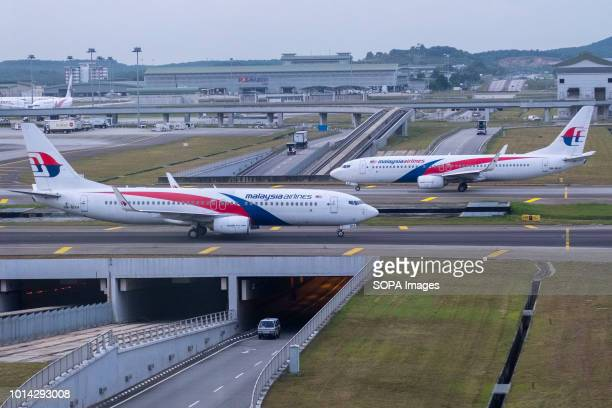 Malaysia Airlines Berhad airplanes seen at Kuala Lumpur International Airport also known as KLIA KLIA is the 23rd largest and busiest airport in the...