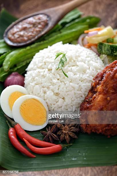 Malaysia famous food Nasi lemak