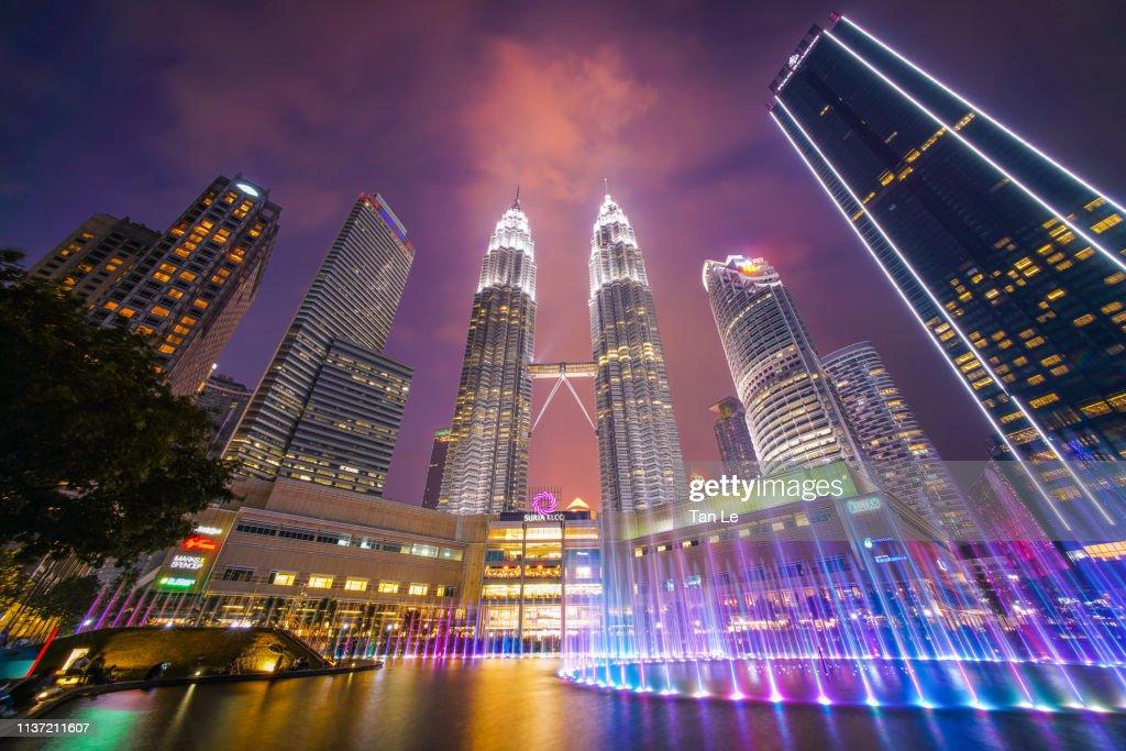 Malaysia Kuala Lumpur Klcc Lake Symphony Water Fountain Show And ...