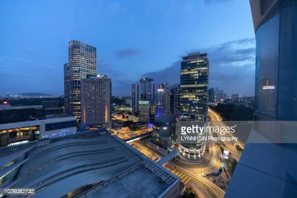 malaysia kuala lumpur night city skyline, - lynnhsin stock pictures, royalty-free photos & images