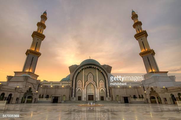 Malaysia, Kuala Lumpur, View of Federal Territory Mosque or Masjid Wilayah Persekutuan