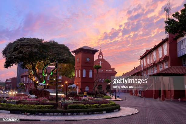 malaysia, malacca, christ church - melaka state stock pictures, royalty-free photos & images