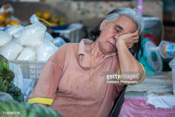 malaysia: market at serian - dayak stock photos and pictures