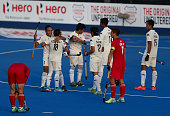 london england malaysia players celebrate after
