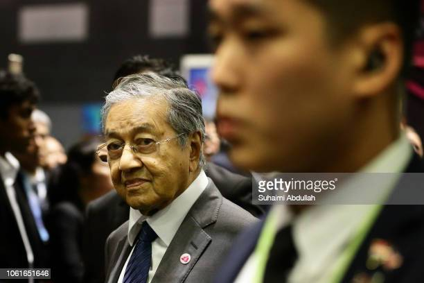 Malaysia Prime Minister Mahathir Mohamad arrives at the 13th East Asia summit plenary session on the sidelines of the 33rd Association of Southeast...