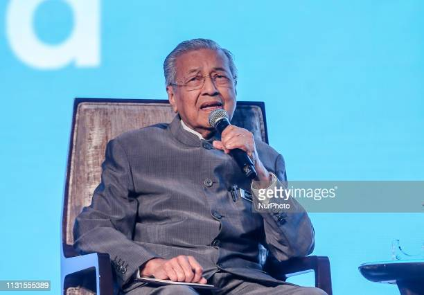 Malaysia Prime minister Tun Dr Mahathir Mohamad speaks during the Invest Malaysia 2019 conference in Kuala Lumpur March 19, 2019.