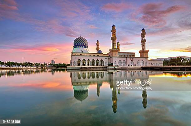 Malaysia Sabah Borneo floating mosque