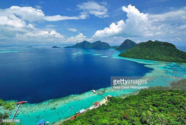 malaysia sabah borneo island scenic view - malaysia stock pictures, royalty-free photos & images