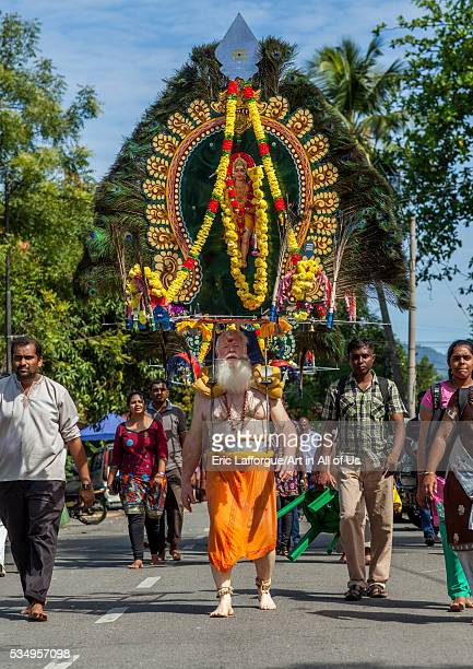 Malaysia Southeast Asia Kuala Lumpur Devotee Kavadi Australian Bearer At Thaipusam Hindu Religious Festival In Batu Caves