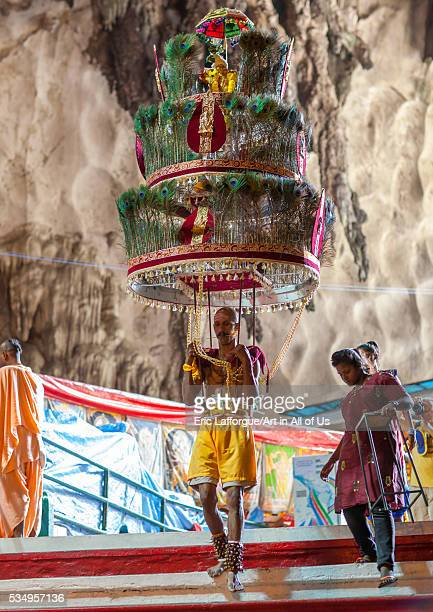 Malaysia Southeast Asia Kuala Lumpur Devotee Kavadi Bearer At Thaipusam Festival In Batu Caves