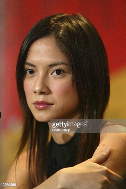 """Malaysian actress Lee Sinje attends the news conference to the Hong Kong-Taiwanese film """"20:30:40"""" at the 54th annual Berlinale International Film..."""