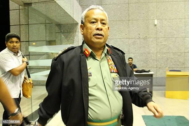 Malaysian Chief of Army Zulkifeli Mohd Zin arrives at Kuala Lumpur International Airport Office in Sepang Malaysia on July 18 2014 after Malaysian...