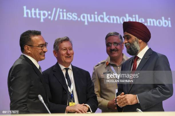 Malaysian Defence Minister Hishammuddin Tun Hussein John Chipman directorgeneral and chief executive of IISS Pakistan Armed Forces Chairman Joint...