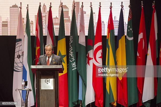 Malaysian Foreign Minister Anifah Aman gives a speech during the Organization of Islamic Countries Council of Foreign Ministers Extraordinary Session...