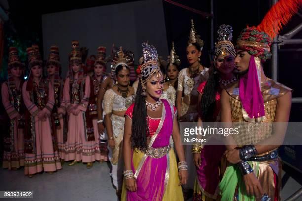 Malaysian Kazakhstan dancers pictured during the KL GENTA 2017 at Panggung Anniversary Taman Botani Perdana in Kuala Lumpur Malaysia on December 16...
