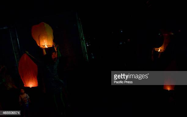 Malaysian of ethnic Chinese released the lanterns during Chap Goh Meh festivals marking the end of Chinese New Year celebrations in Kuala Lumpur...