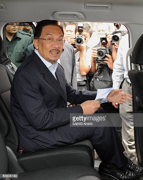 Malaysian opposition leader Anwar Ibrahim leaves the court in Kuala Lumpur on October 31 2008 Anwar who faces trial over sodomy allegations which he...