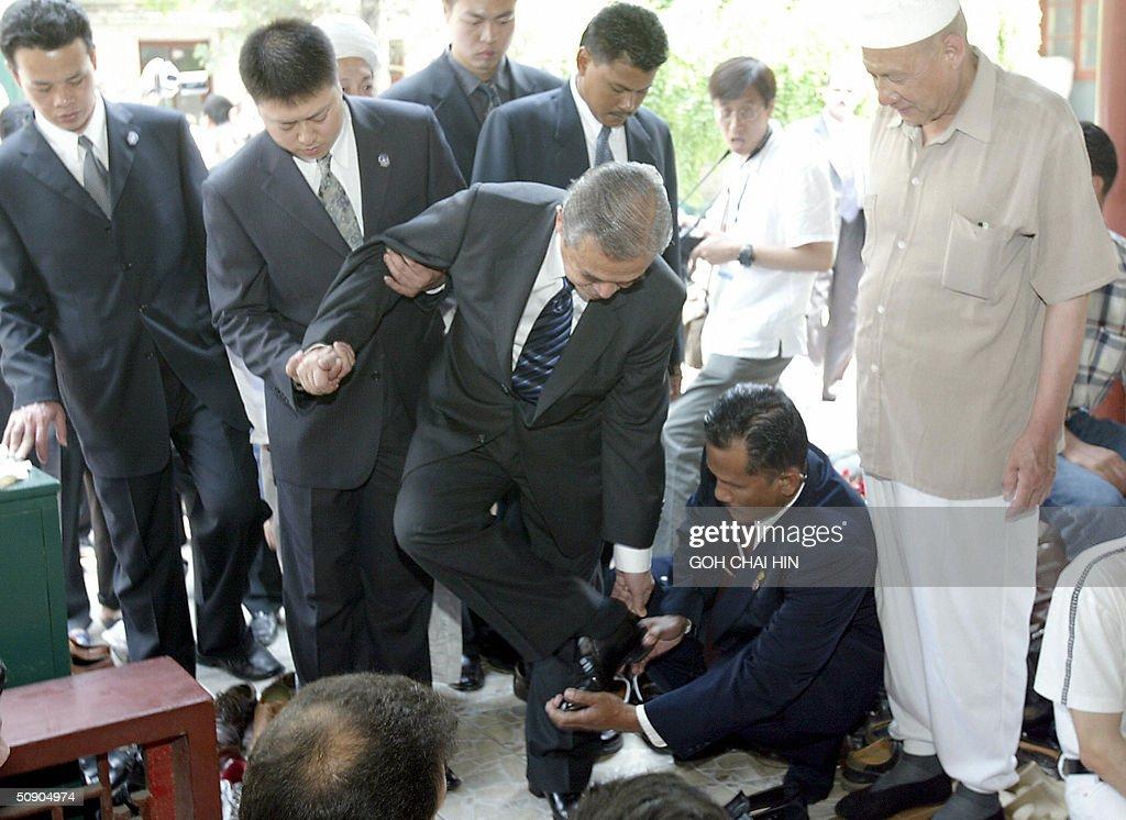 Malaysian Prime Minister Abdullah Ahmad : News Photo
