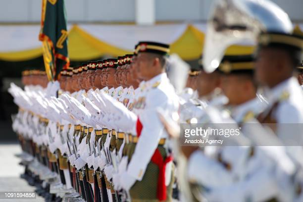 Malaysian Royal Guard prays for the new King of Malaysia the sixth Sultan of Pahang AlSultan Abdullah Ri'ayatuddin AlMustafa Billah Shah Ibni Sultan...